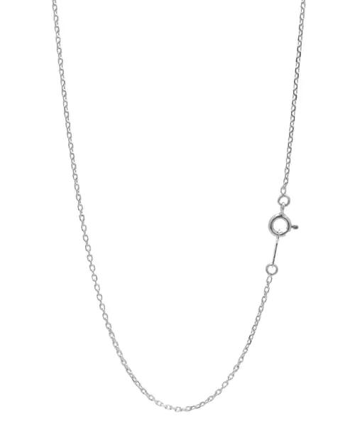 シルバー925 4面カット小豆(アズキ)チェーン 幅約1.3mm / 長さ40cm-60cm