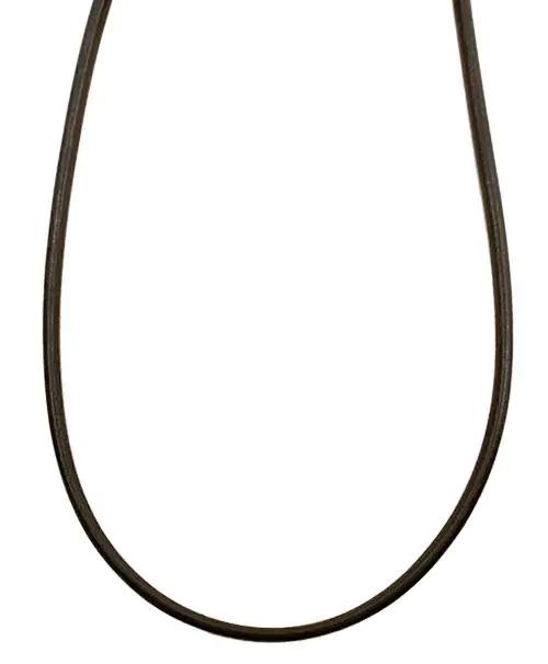 シルバー925金具 日本製 本革 牛 レザーコード 革紐 幅約3.2mm [ダークブラウン] 40cm-80cm