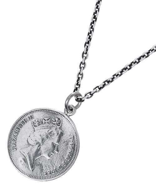 5ペンス イギリス硬貨 コイン風 メダル シルバーペンダントトップ