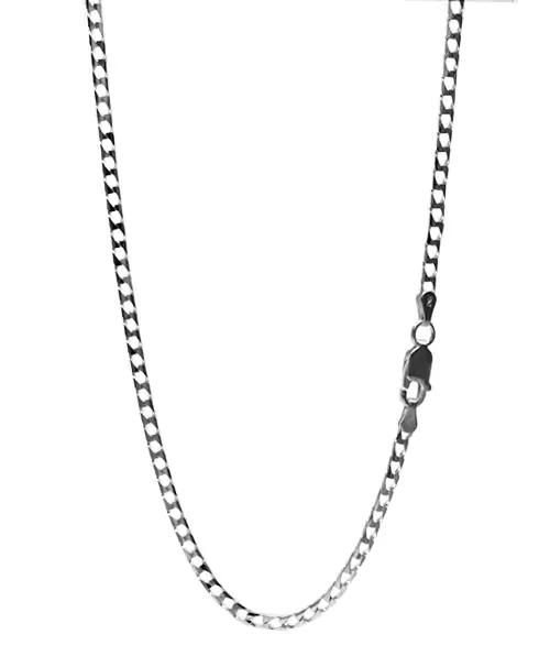 シルバー925 10面カット キヘイチェーン 喜平ネックレス 幅約2.6mm / 長さ45cm-50cm