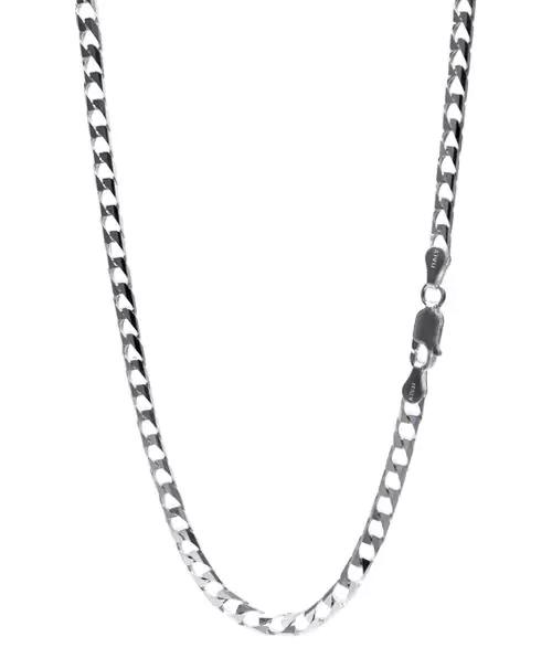 シルバー925 10面カット キヘイチェーン 喜平ネックレス 幅約3.85mm / 長さ45cm-50cm
