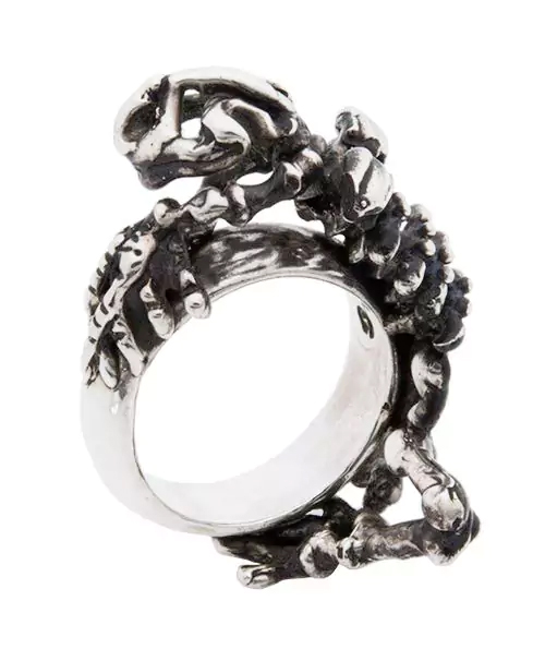 [Sons of TC / サンズ オブ ティーシー] Rg-17-BK Skeleton frog ring カエル 骨格 シルバーリング (マッドスモーク仕上げ)